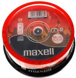 Maxell CD-R Music 700MB XL II cake 25   (628529.40)