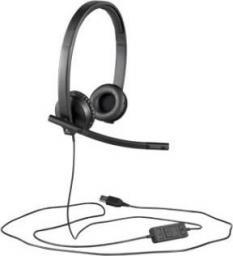 Słuchawki z mikrofonem Logitech HS570e Czarne (981-000575)