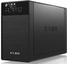 Kieszeń Icy Box Obudowa Na Dysk RAID 2x3,5'' SATA I/II/III, USB 3.0, eSATA (IB-RD3620SU3)