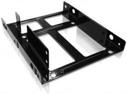 """Icy Box wewnętrzna ramka montażowa 3.5"""" na 2 dyski 2.5"""" czarna   (IB-AC643)"""