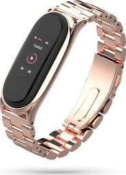 Tech-Protect Bransoleta stalowa Mi Smart Band 5 różowozłota