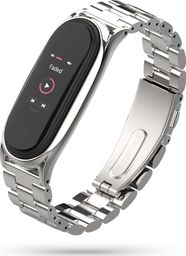 Tech-Protect Bransoleta stalowa Mi Smart Band 5 srebrna