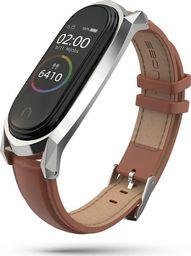 Tech-Protect Pasek skórzany Mi Smart Band 5 brązowy