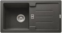 Franke Zlewozmywak 1-komorowy SAG 614 z ociekaczem 78 x 43,5cm grafitowy (114.0320.328)