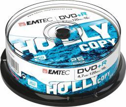 Emtec DVD+R 4,7GB 16x Cake 25 szt   (ECOVPR472516CB)