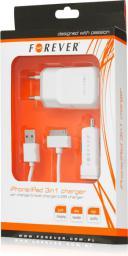 Zestaw ładowarek Forever GSM004323 MICRO USB 1100mA BIAŁA (GSM004323