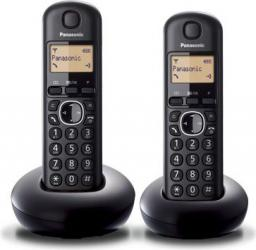 Telefon bezprzewodowy Panasonic KX-TGB212PDB Dect Black Duo