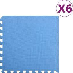 vidaXL Maty podłogowe, 6 szt., 2,16 , pianka EVA, niebieskie