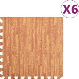 vidaXL Maty podłogowe, 6 szt., wzór drewna, 2,16 , pianka EVA