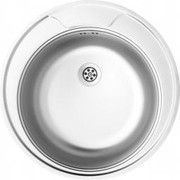Deante Zlewozmywak 1-komorowy Twist bez ociekacza okrągły 48cm stalowy (ZEU 3810)