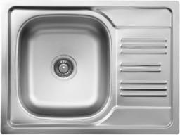 Deante Zlewozmywak 1-komorowy Xylo z krótkim ociekaczem 43,5 x 58cm stalowy (ZEX 311A)