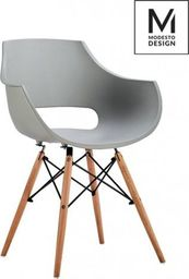 Modesto Design MODESTO fotel FORO szary - podstawa bukowa