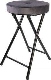 Intesi Składany stołek Margot Velvet szary