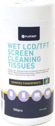 Platinet Chusteczki mokre do LCD 100szt.