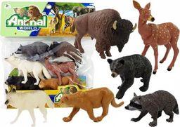 Import leantoys Gumowy Zestaw Figurek Zwierzęta Północy 6 elementów