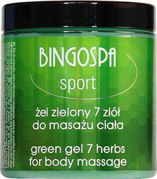 BingoSpa Żel zielony 7 ziół do masażu ciała BINGOSPA sport