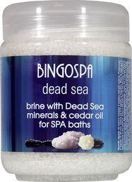 BingoSpa Solanka SPA z minerałami Morza Martwego z olejkiem cedrowym do kąpieli SPA 550g