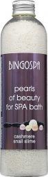 BingoSpa Granulki do kąpieli Pearls of beauty for SPA bath - cashmere and snail slime 230g