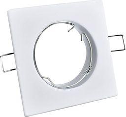 Polux Oprawa podtynkowa prostokątna biała Polux OPIN 306234
