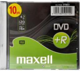 Maxell DVD+R MAXELL 4,7 GB 16x SLIM 10 PACK  (275631.40.CN)