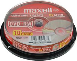 Maxell DVD-RW 4.7GB x6 Cake 10 szt. (275892.05.TW)