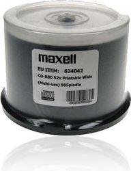 Maxell CD-R 700 MB 52x PRINTABLE NO ID CAKE 50  (624042)
