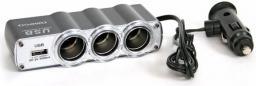 Omega rodzielacz gniazd zapalniczki samochodowej z USB (40418)