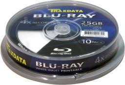 Traxdata BD-R BLU-RAY 25GB 4X FF PRINT  CAKE 10SZT   (90L753ITRA006)