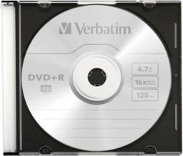 Verbatim DVD+R 4,7GB 16X SLIM CASE*1 P