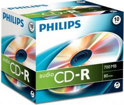 Philips Płyta CD-R, 80minut, 10 sztuk jewel case (CR7AONJ10/00)