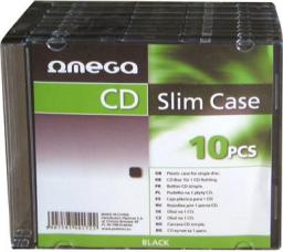 Omega Pudełko Slim Case 1 płyta x10 szt. (40172)