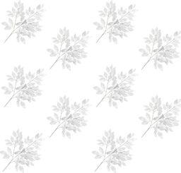 vidaXL Sztuczne gałązki fikusa, 10 szt., srebrne, 65 cm