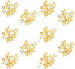 vidaXL Sztuczne gałązki fikusa, 10 szt., złote, 65 cm