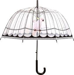 Esschert Design Esschert Design Parasol z nadrukiem ptasiej klatki, przezroczysty