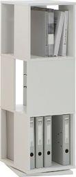 FMD FMD Obrotowa szafka na dokumenty, 34x34x108 cm, biała