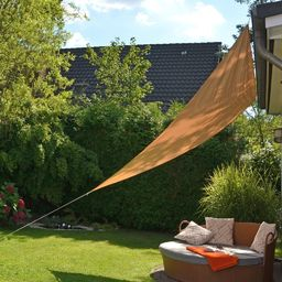 HI HI Żagiel ogrodowy, trójkątny, 3,6 x 3,6 x 3,6 m, beżowy