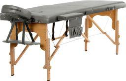 BODYFIT Stół, łóżko do masażu 2-segmentowe drewniane uniwersalny (2236)