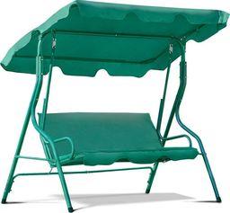 Funfit Huśtawka ogrodowa Relax dla 3 osób - zielona uniwersalny