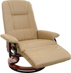 Funfit Fotel TV wypoczynkowy z masażem, grzaniem i zintegrowanym podnóżkiem uniwersalny (2519)
