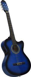 vidaXL Gitara akustyczna z wycięciem, 6 strun i equalizer, niebieska