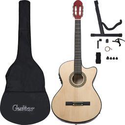 vidaXL 12-cz. zestaw z gitarą westernową, 6 strunami i equalizerem