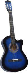 """vidaXL Gitara akustyczna z wycięciem, 6 strun, niebieska, 38"""""""