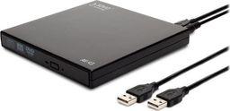 Napęd Savio Nagrywarka DVD-RW/CD-RW SAVIO AK-43 Czarna Slim zewn. USB