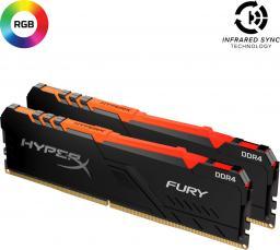 Pamięć HyperX Fury RGB, DDR4, 64 GB, 2666MHz, CL16 (HX426C16FB3AK2/64)