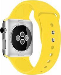 Crong Crong Liquid Band - Pasek do Apple Watch 42/44 mm (żółty)