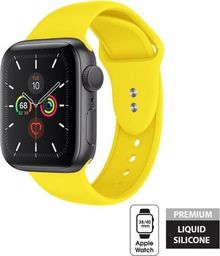 Crong Crong Liquid Band - Pasek do Apple Watch 38/40 mm (żółty)