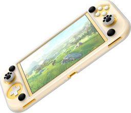 Baseus Silikonowe etui Baseus GS06L do konsoli Nintendo Switch Lite + silikonowe nakładki na pady (biało-czarne)