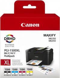 Canon tusze PGI-1500XL multipack (cyan, magenta, yellow, black)