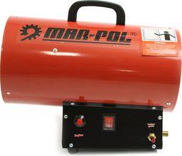 MAR-POL Nagrzewnica gazowa dmuchawa piecyk 15kW 320m3/h + wąż i reduktor