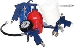 Pistolet lakierniczy MAR-POL Zestaw lakierniczy pneumatyczny do sprężarki malowania przedmuchiwania 5el.